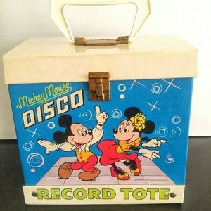 Mickey Mouse Vintage Disco Record Tote